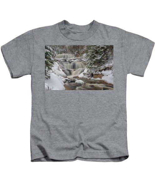 Winter At Sable Falls Kids T-Shirt