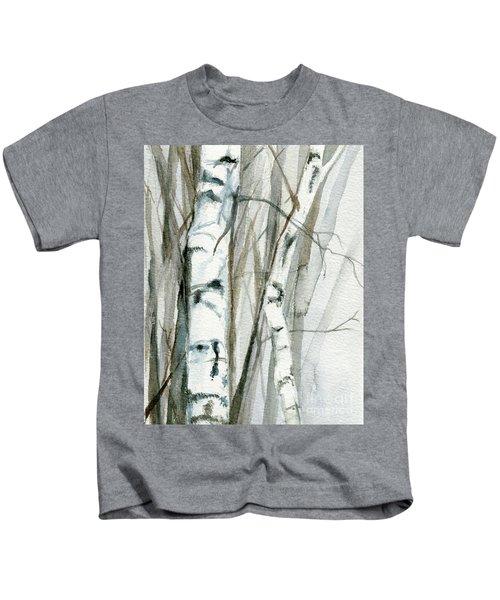 Winter Birch Kids T-Shirt