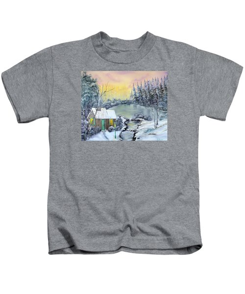 Winter Cabin Kids T-Shirt
