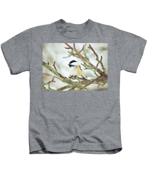 Winter Chickadee Kids T-Shirt