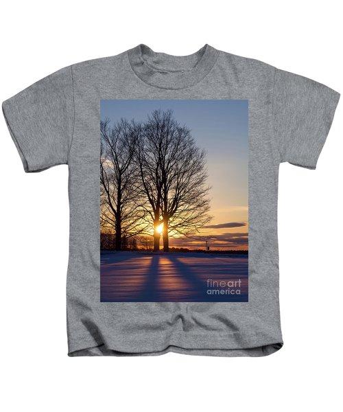 Winter, Crystal Spring Farm, Brunswick, Maine -78592 Kids T-Shirt