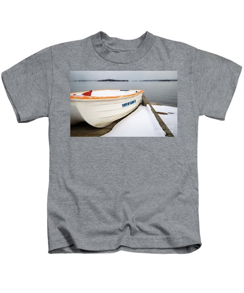 Winter, Falmouth, Maine  -18674 Kids T-Shirt