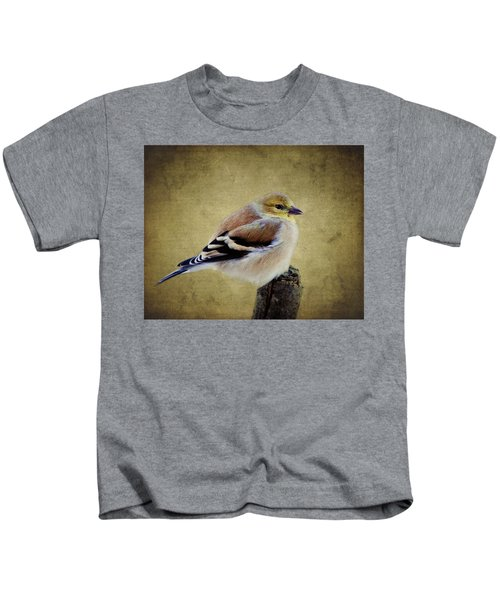 Winter Goldfinch Kids T-Shirt