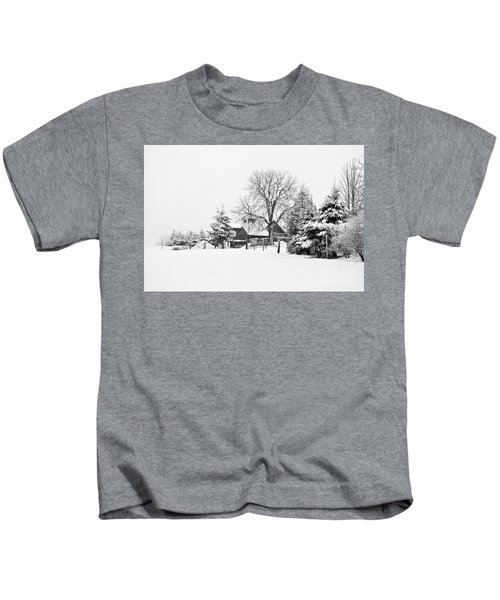 Winter In Black And White Fleckl, Germany 2 Kids T-Shirt
