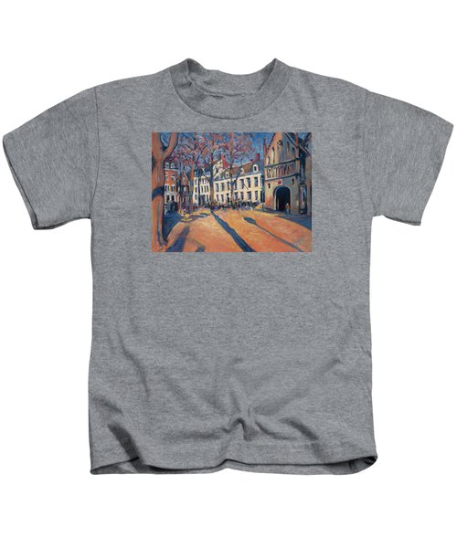 Winter Light At The Our Lady Square In Maastricht Kids T-Shirt