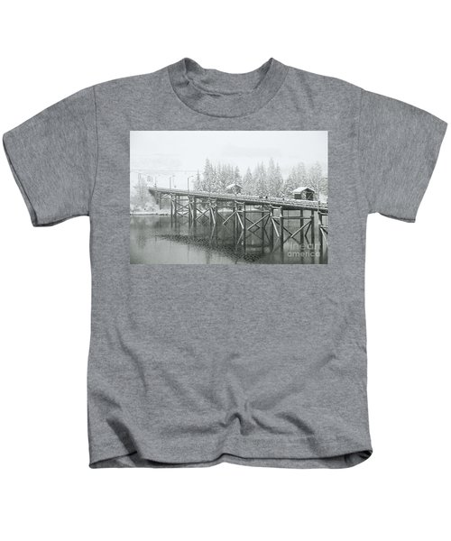 Winter Morning In The Pier Kids T-Shirt