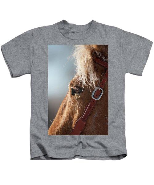 Winter Mustang Eye Kids T-Shirt