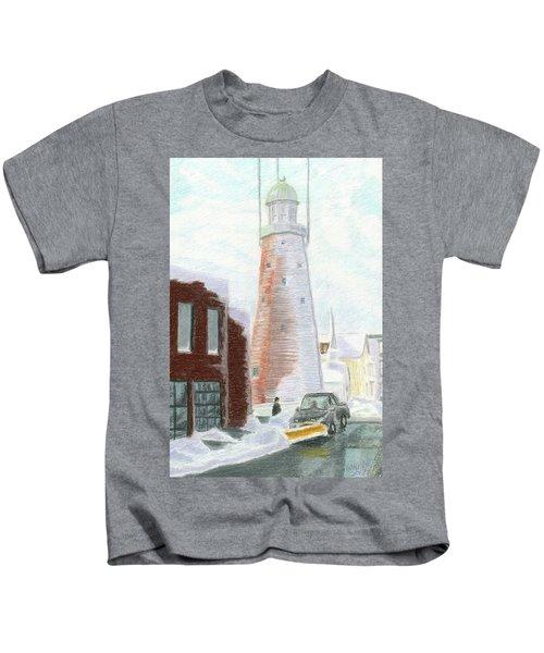 Winter On Munjoy Hill Kids T-Shirt