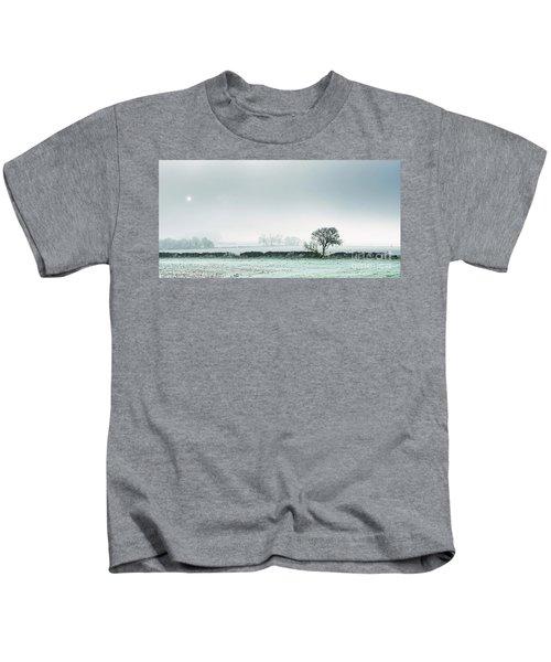 Winter On The Mendips Kids T-Shirt