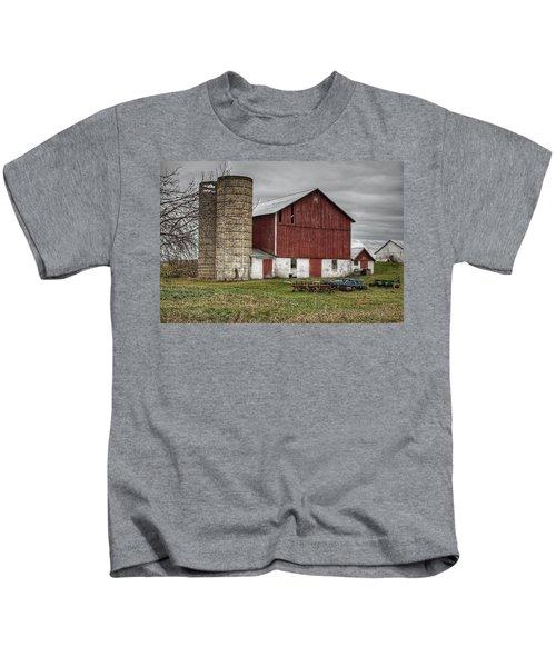0006 - Winter Red Kids T-Shirt