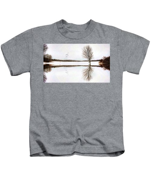 Winter Reflection Kids T-Shirt