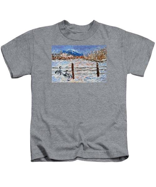 Winter Ride Kids T-Shirt