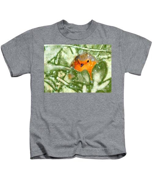 Winter Robin Kids T-Shirt