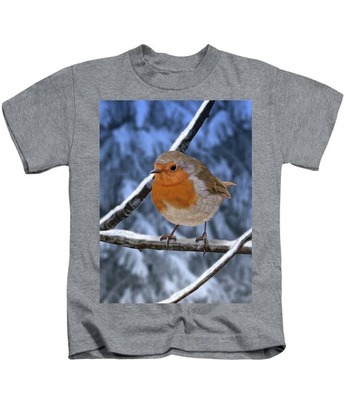 Winter Robin Kids T-Shirt