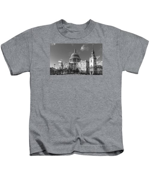 Winter Sun St Paul's Cathedral Bw Kids T-Shirt