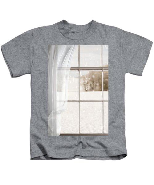 Winter Through A Window Kids T-Shirt