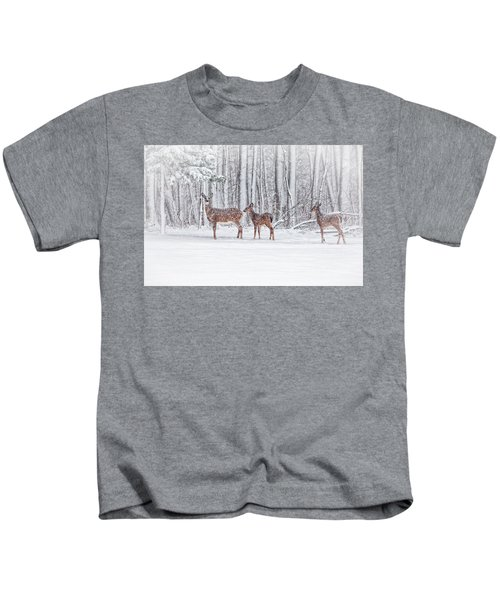 Winter Visits Kids T-Shirt