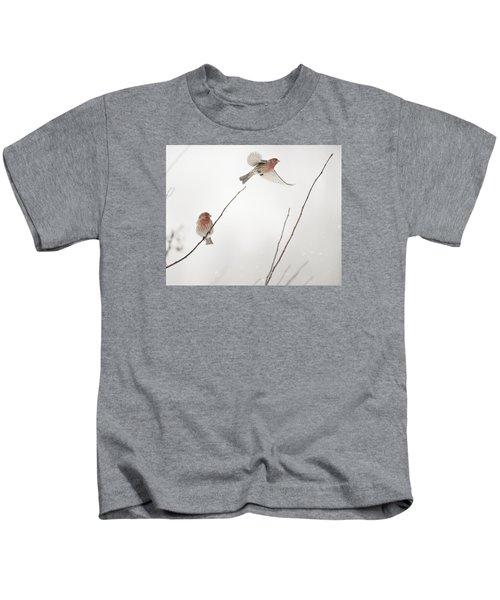 Winter Wind Surfing 2 Kids T-Shirt
