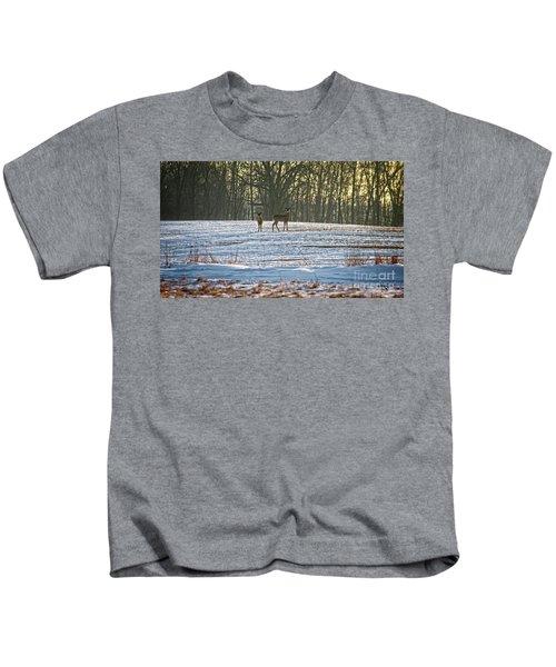 Wisconsin Whitetail Deer Kids T-Shirt