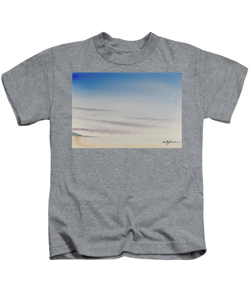 Wisps Of Clouds At Sunset Over A Calm Bay Kids T-Shirt