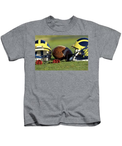Wolverine Helmets And Roses Kids T-Shirt