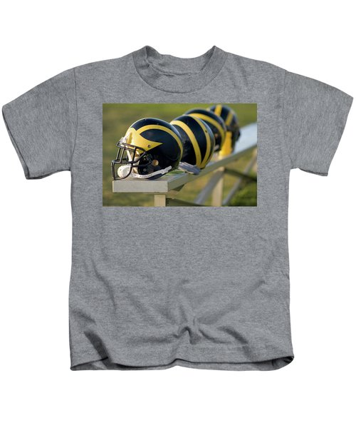 Wolverine Helmets On A Bench Kids T-Shirt