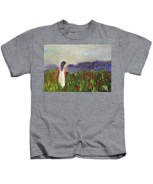 Woman In White Kids T-Shirt