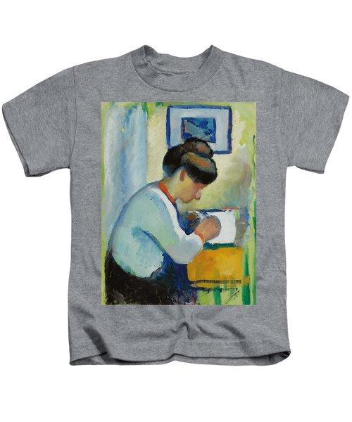 Woman Writing Kids T-Shirt