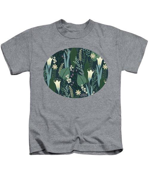 Wonderful Mid Century Style Garden Patten  Kids T-Shirt