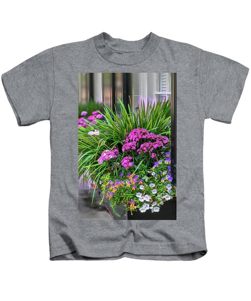 Wonderful Window Boxes Of Charleston Kids T-Shirt