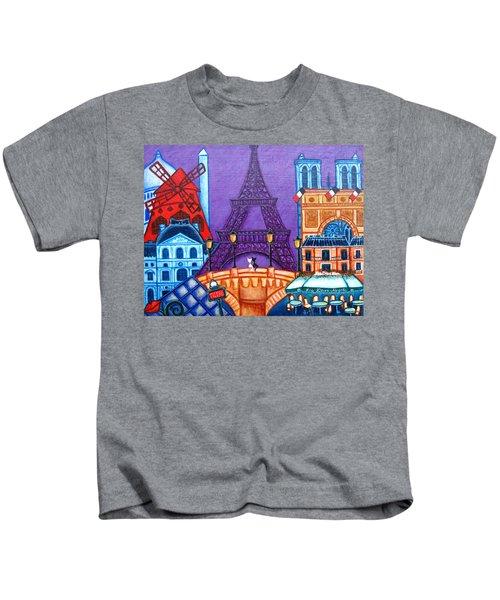 Wonders Of Paris Kids T-Shirt