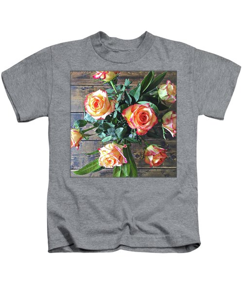 Wood And Roses Kids T-Shirt