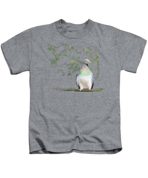 Wood Pigeon Kids T-Shirt by Ivana Westin
