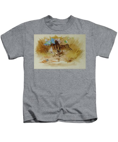 Woodcock In A Sandy Hollow By Thorburn Kids T-Shirt