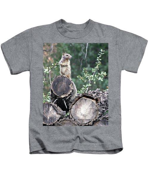 Woodpile Squirrel Kids T-Shirt