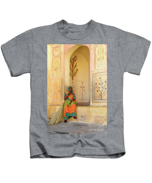 Workers In Amer Fort 01 Kids T-Shirt