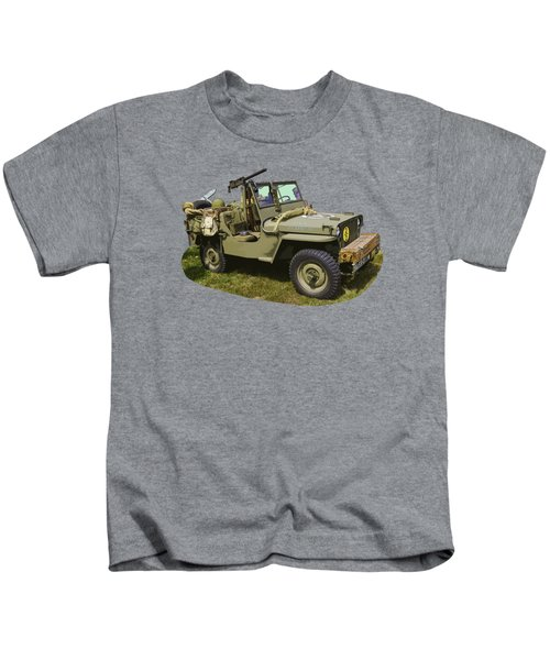 World War Two - Willys - Army Jeep  Kids T-Shirt