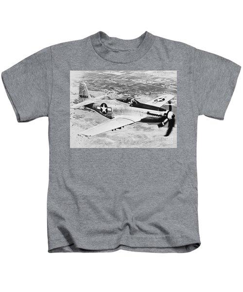 Ww2 North American P51 Mustang Kids T-Shirt