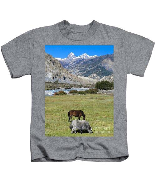 Yak And Horse Kids T-Shirt