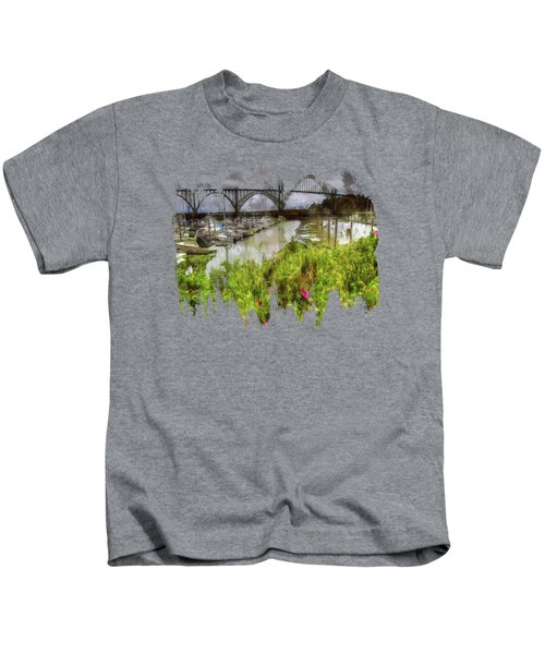 Yaquina Bay Roses Kids T-Shirt