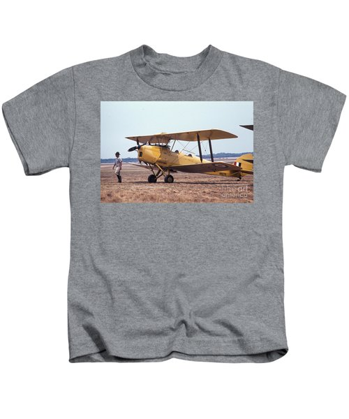 Yellow Bipe Kids T-Shirt