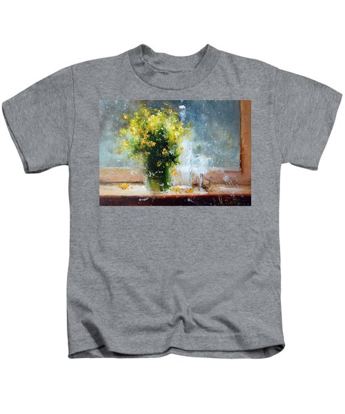 Yellow Flowers Kids T-Shirt