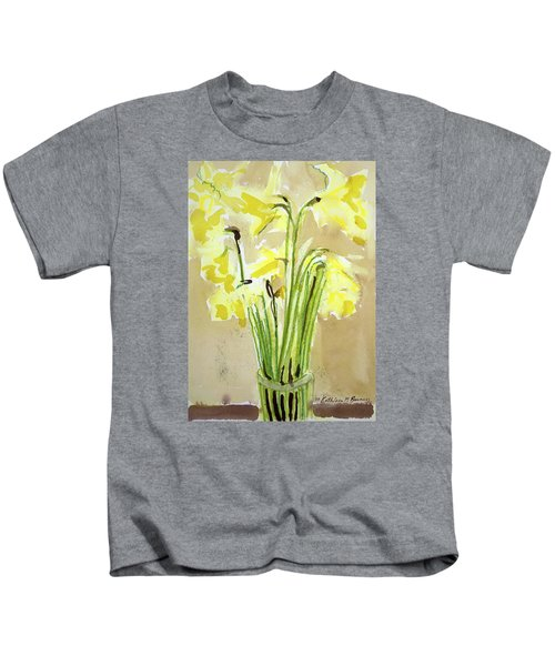 Yellow Flowers In Vase Kids T-Shirt