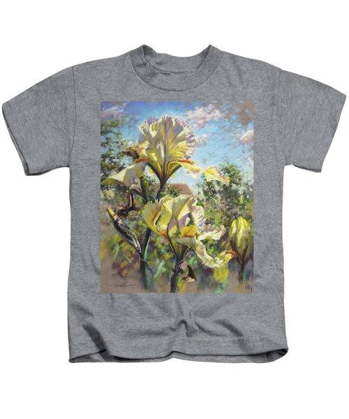 Yellow Iris Kids T-Shirt