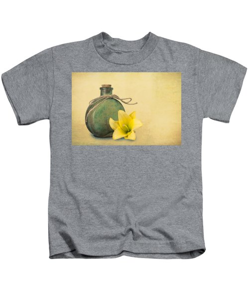 Yellow Lily And Green Bottle II Kids T-Shirt