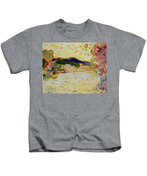 Beynac Et Cazenac , Dordogne , Yellow Sunshine  Kids T-Shirt