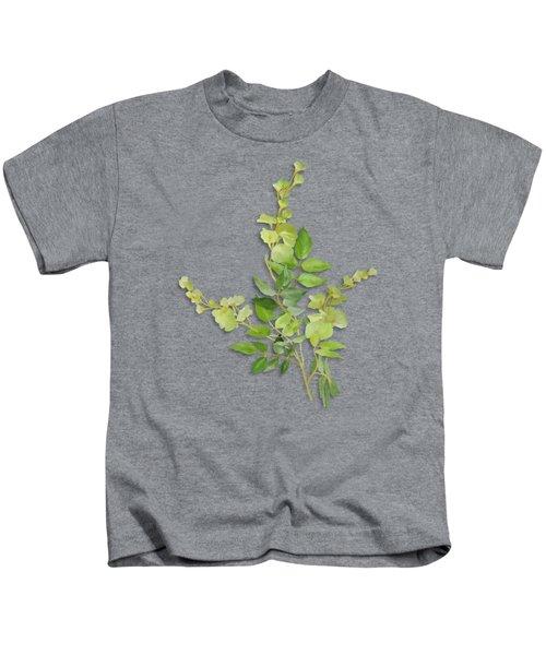 Yellow Tiny Flowers Kids T-Shirt