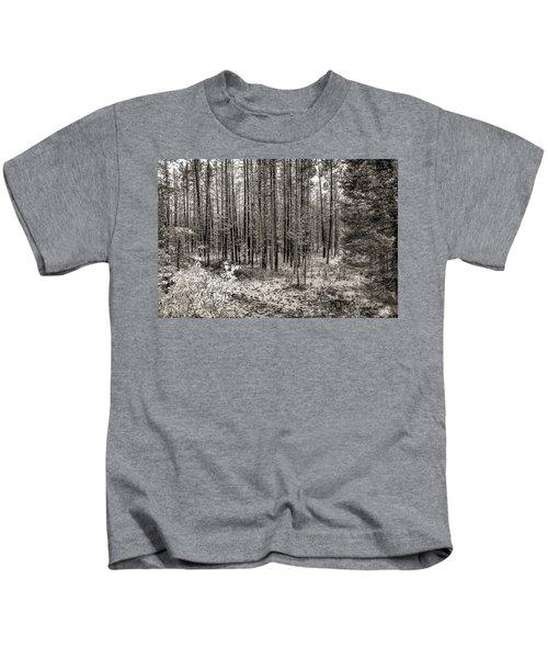 Yellowstone Fire Burn Scar Kids T-Shirt