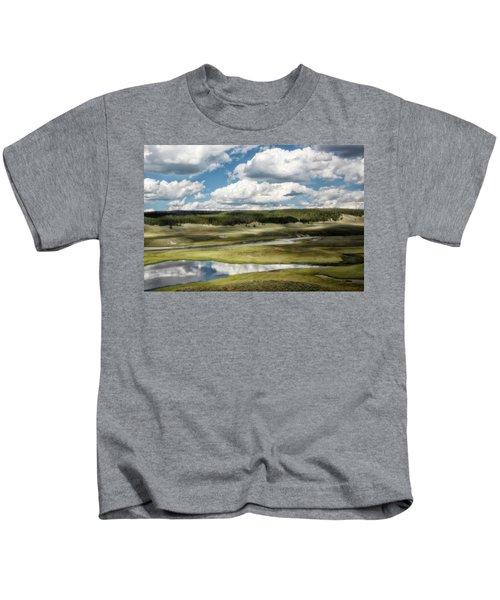 Kids T-Shirt featuring the photograph Yellowstone Hayden Valley National Park Wall Decor by Gigi Ebert