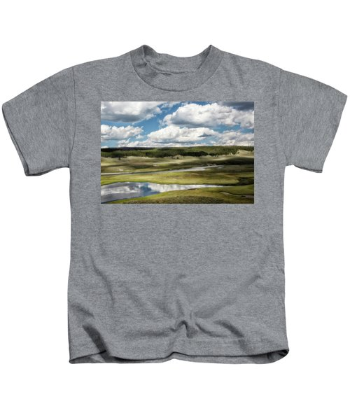 Yellowstone Hayden Valley National Park Wall Decor Kids T-Shirt